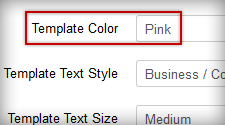 Configure the template color by template parameter